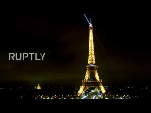 LIVE: Eiffel Tower lights turned off in tribute to St. Petersburg blast victims