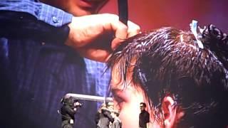 Angelo Seminara's Short Razor Cut At Davines World Wide Tour Hairshow