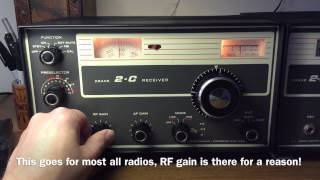 A Look At The Wonderful Drake 2-C Ham Band Radio Receiver