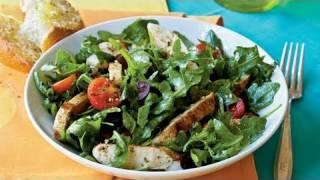 Herbed Arugula Tomato Salad With Chicken Recipe