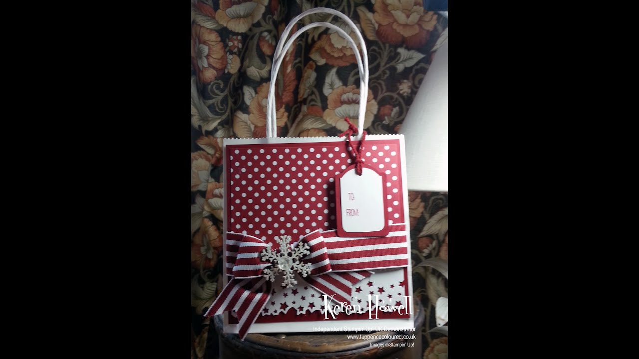 Stampin up decorated gift bag youtube stampin up decorated gift bag negle Gallery