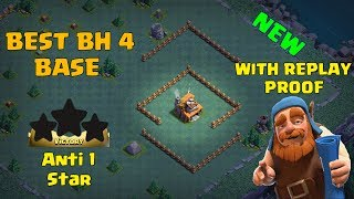 New Builder Hall 4 (BEST BH4) Base Anti 1 Star + 5 Replay Proof + 2500 trophies | Clash Of Clans