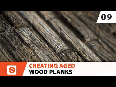 Aged Wood Planks: 09 - Creating the base color