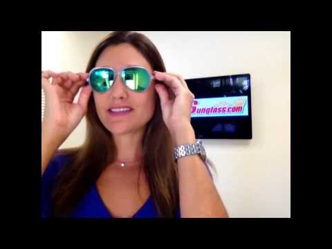 a69dd8ba3 Ray-Ban RB4125 Cats 5000 Sunglasses Clear with Blue Green Mirror - YouTube