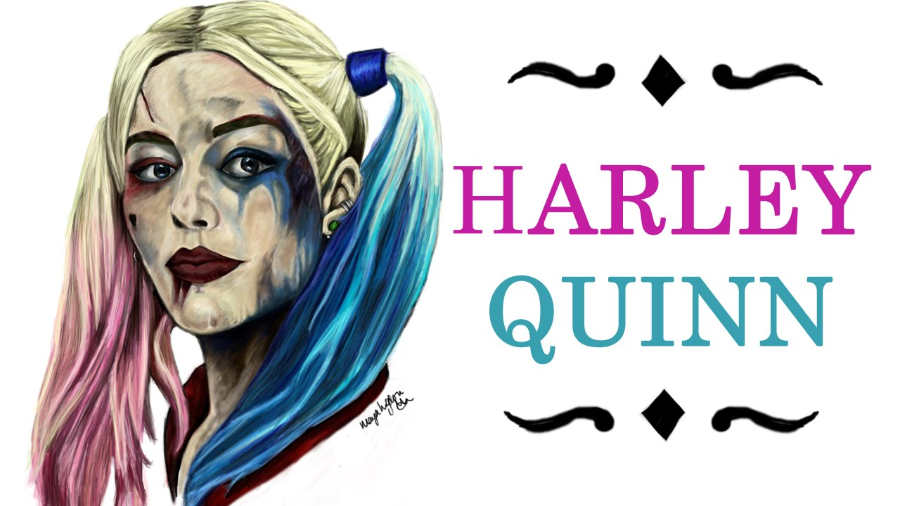 Quinn Drawing: Harley Quinn (Suicide Squad) Digital Drawing Time-lapse