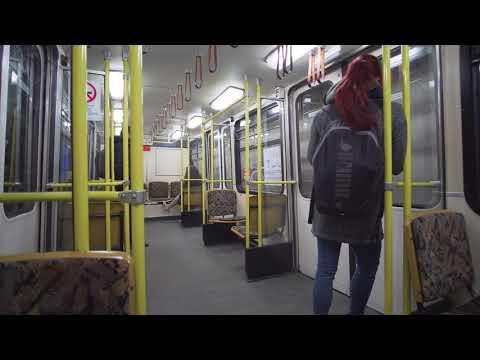 Hungary, Budapest, Metro ride from Kodály körönd to Vörösmarty utca