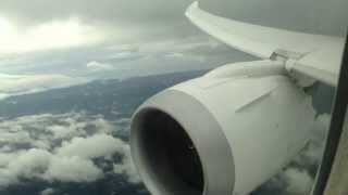 United Airlines Boeing 787-8 Dreamliner Osaka to San Francisco Landing