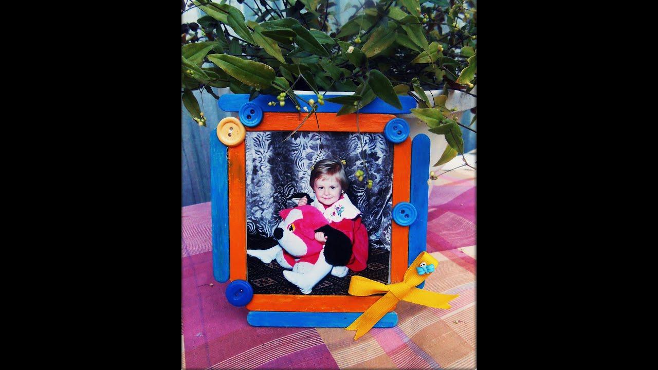 DIY Simple Photo Frame With Ice Cream Sticks TWIB HANDMADE