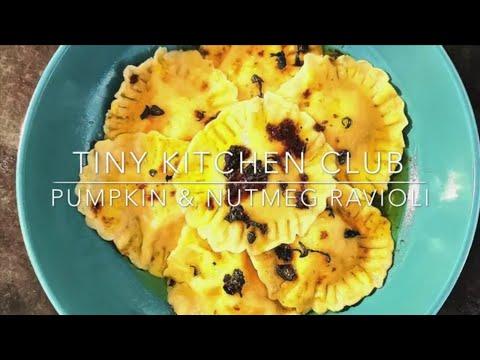 Pumpkin & Nutmeg Ravioli with crispy Sage brown Butter