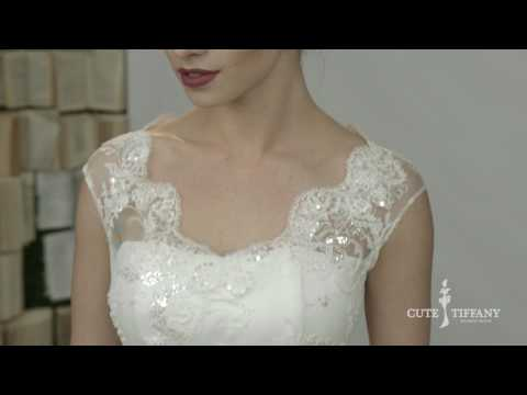 Атласное свадебное платье с карманами BRITNY от CUTE TIFFANY | Коллекция платьев Grace