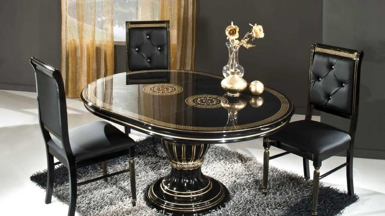 Dining table designs with glass top youtube for Dining table latest model