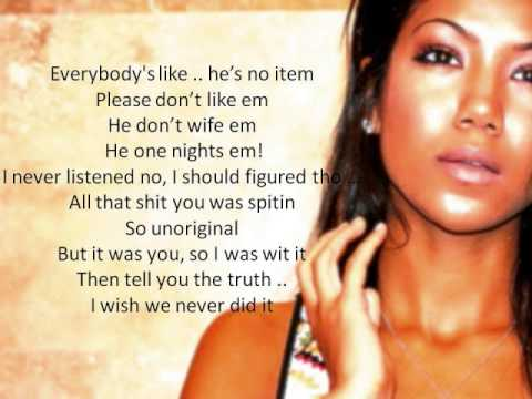 Jhene Aiko The Worst (Lyrics on Screen)