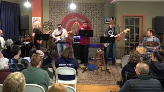 Chris Bob Gary Steve and Bill Performing Susie Q Main Street Music and Art Studio