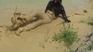 extreme mudding in lacrosse rubber boots 2