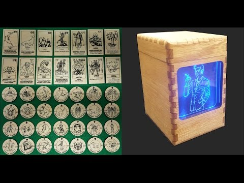 Designing and Building Magic Tokens & Red Oak Deck Box  (High-speed Edit)