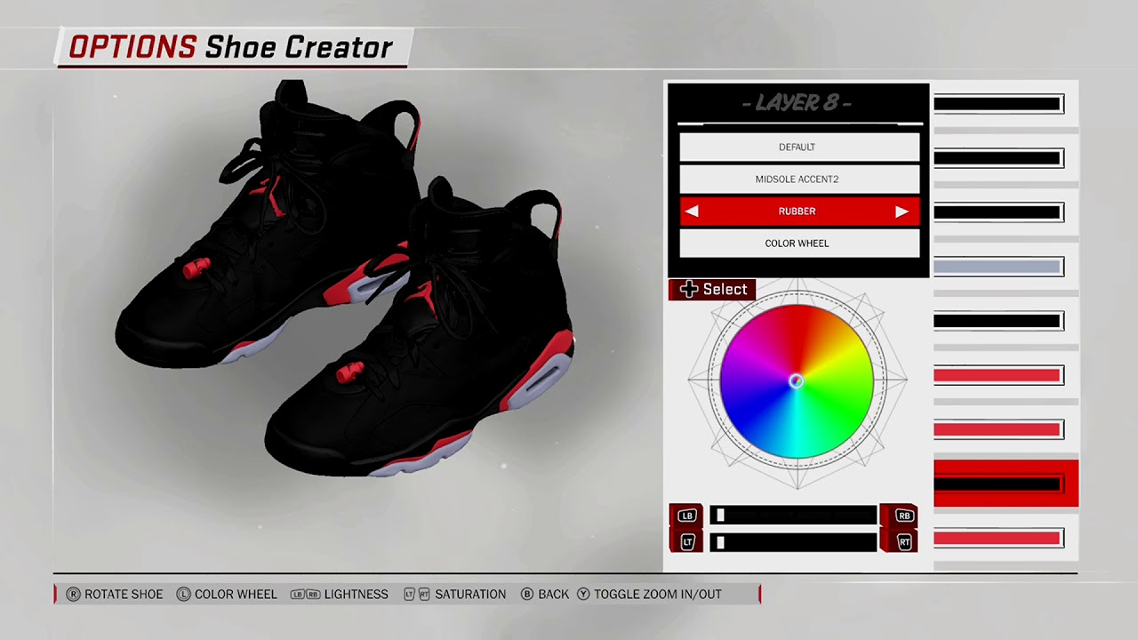 NBA 2K18 Shoe Creator Air Jordan 6