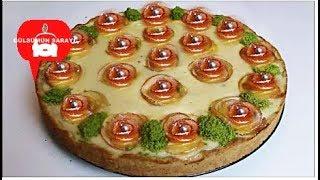 ELMALI GÜL TART - elmali kek - elmali gül - elmali kurabiye - elmali pasta - GÜLSÜMÜN SARAYI