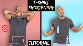 How To SHORTEN A LONG TShirt