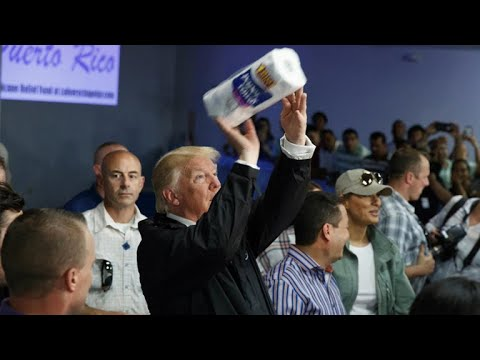 President Trump hands out paper towels in Puerto Rico