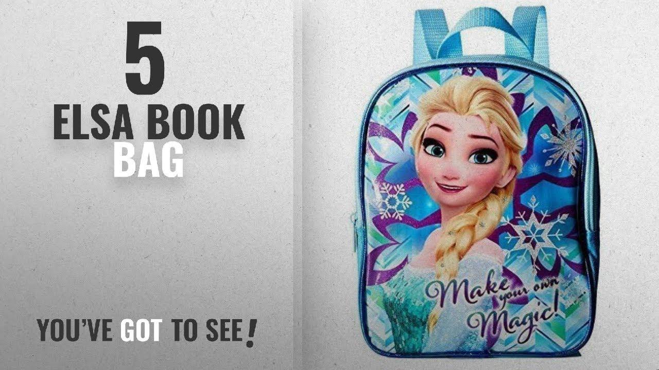 1bd517a7c81 Top 10 Elsa Book Bag  2018   Disney Frozen Movie Elsa Girls Toddler  PreSchool Backpack Book bag