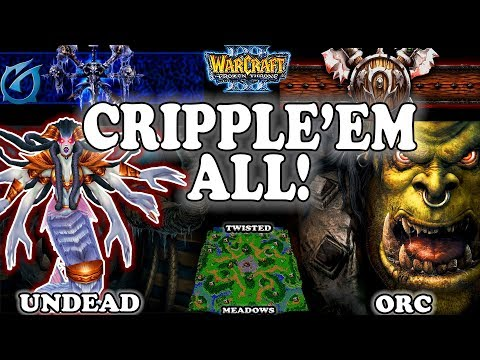 Grubby | Warcraft 3 TFT | 1.30 | UD v ORC on Twisted Meadows - Cripple'em All