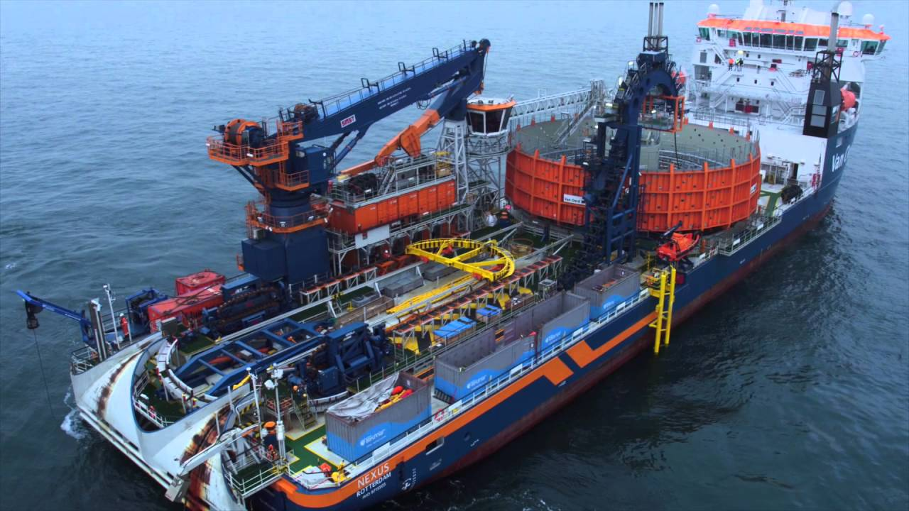 Cable Installation For The Gemini Offshore Wind Park Youtube