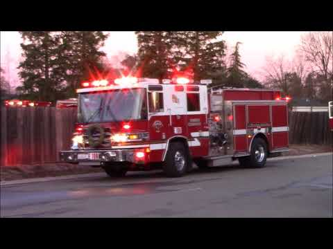 Sacramento Metro Fire District Engine 109 & Medic 24 Responding & Cancelling