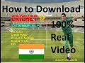 How to Download and Install Ea sports Cricket 17 for PC.. 100% full version