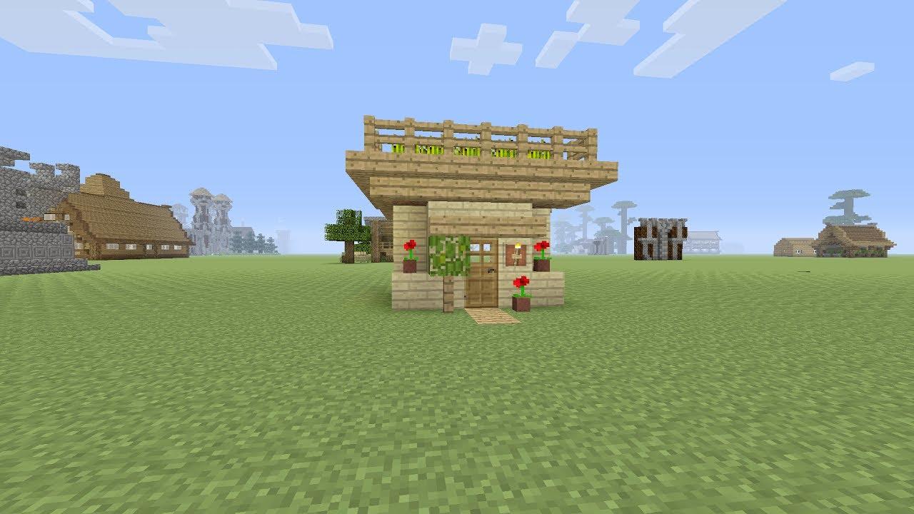 Minecraft een kleine survival huis maken youtube for Huis maken minecraft
