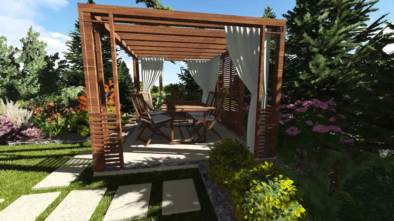 Mały Ogród Przydomowy Spacer 3d Youtube