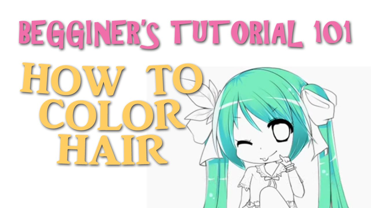 SpeedPaint/Beginners: How to color hair (Quick&Easy)