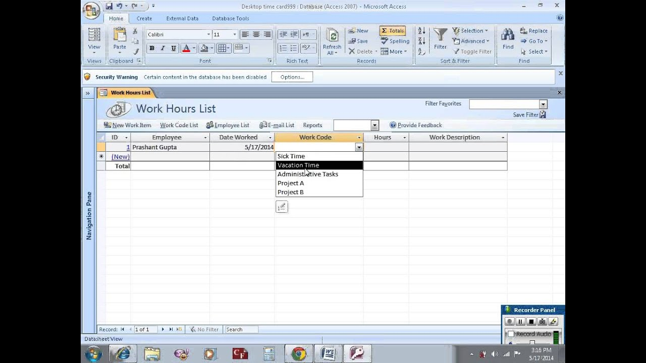Build employee database with MS access - YouTube