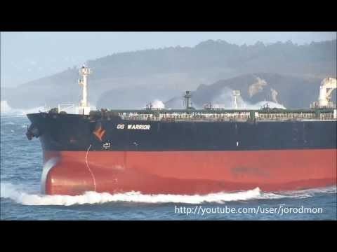 Crude Oil Tanker DS WARRIOR leaving A Coruña