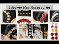 5 Flower Hair Accessories Making At Home