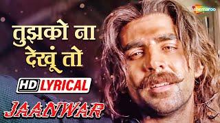 तुझको ना देखूं तो   अक्षय कुमार   सुनिधी   उदित   Jaanwar - HD Lyrical   Hit Fathers Song