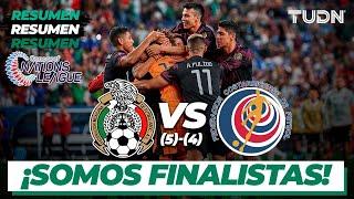 Resumen y goles y goles   México (5)-(4) Costa Rica   Nations League Semifinal   TUDN