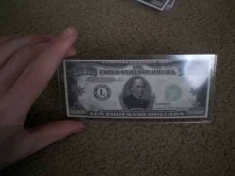 High Denomination Bills 500 1000 5 000 And 10 Dollar