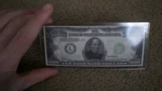 High Denomination Bills (500, 1000, 5,000, and 10,000 dollar bills)