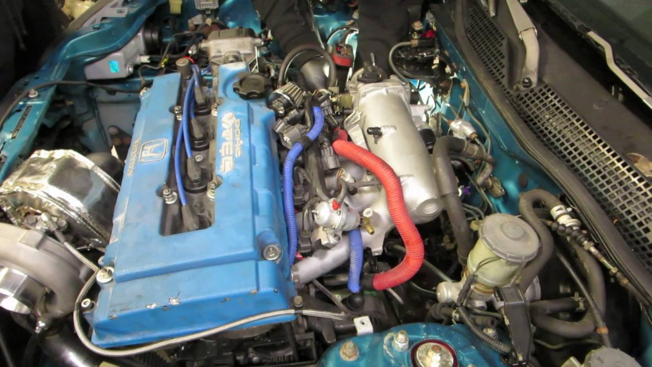 TURBO B20 VTEC engine swap EG civic HSG EP  4-06