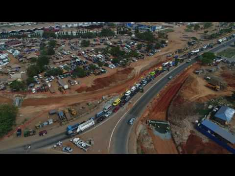 Work In Progress   Tema Roundabout end of Accra Motorway Feb 2017
