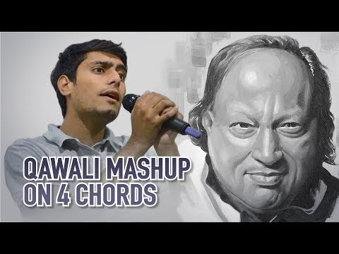 Qawwali mashup on 4 chords | Nusrat fateh ali khan
