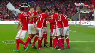 Benfica 4 x 0 Tondela resumo e golos HD