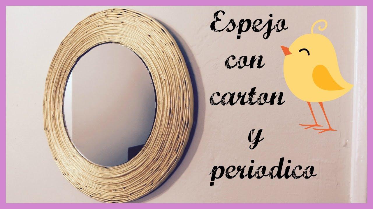 ESPEJO CON CARTON Y PERIODICO!!! - YouTube