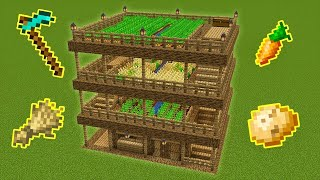 Minecraft - How to build THE ULTIMATE FARM HOUSE