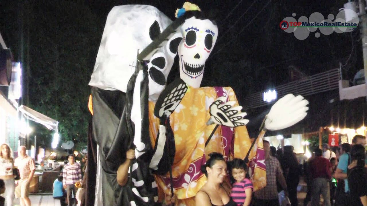 halloween day of the dead in playa del carmen mexico 2014 topmexicorealestatecom youtube