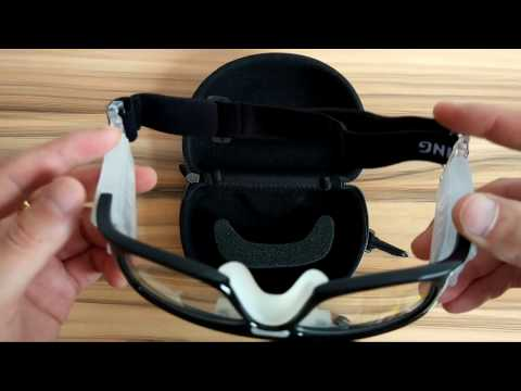 basketball/football-goggles-protective-eyewear-black-wrap-frame-clear-lens