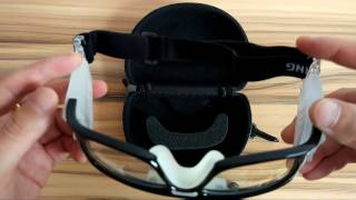 Basketball/Football Goggles Protective Eyewear Black Wrap Frame Clear Lens