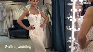 Невероятное силуэтное свадебное платье