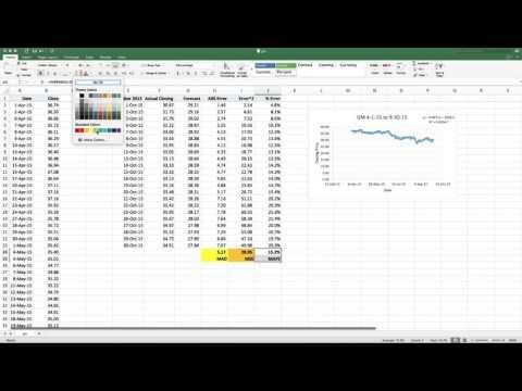 Predicting a Stock Price Using Regression