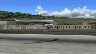 fs2004 hang glider landing at Samos airport,Greece.